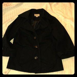 Merona Black 3/4 Quarter Length Jacket Large